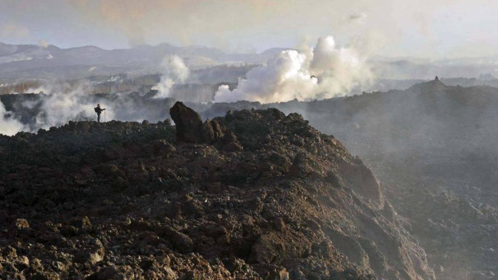 Auf der russischen Halbinsel Kamtschaka gibt es etwa 160 Vulkane. Einer von ihnen, Bolschaja Udina, ist besonders gefährlich.  Ein Ausbruch könnte auch weit entfernt verheerende Folgen haben - wie 2010 derjenige des Eyjafjallajökull in Island. (Archivbild)