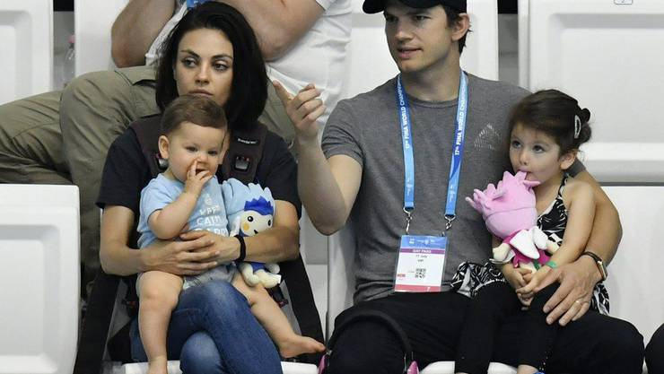Mit 40 ist Ashton Kutcher auf einem vorläufigen Höhepunkt, auch wenn der grosse Leinwand-Durchbruch bisher nicht erfolgt ist: Er ist glücklich verheiratet mit Mila Kunis, gesegnet mit zwei Kindern und dank einem guten Händchen bei der Kapital-Anlage finanziell gut abgesichert. (Archivbild)