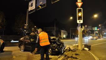 Drei Verletzte bei Verkehrsunfall in Baden