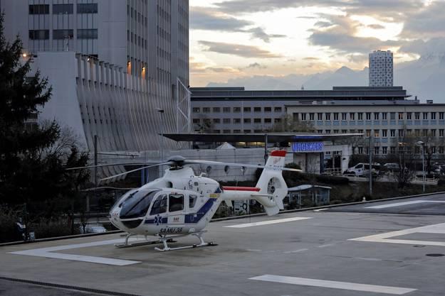 Schumacher wurde mit einem Helikopter ins Spital in Grenoble verlegt.