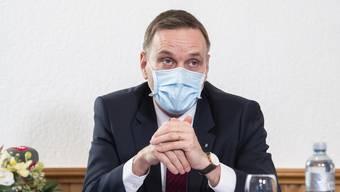 Als Vorsteher des Departements Gesundheit und Soziales wird Jean-Pierre Gallati eine Schlüsselrolle in einem weiteren Coronajahr zukommen. Doch auch anderen Departements stehen Herausforderungen bevor. (Archivbild)