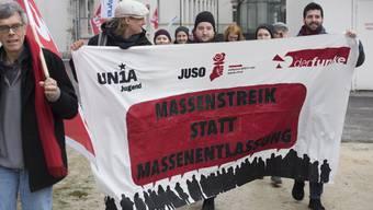 Demo gegen Alstom-Stellenabbau in Baden