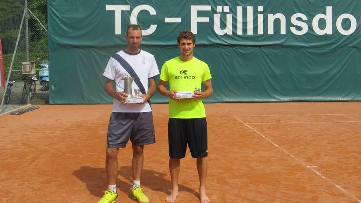 Die beiden Finalisten Pedro Salas (links) und Dario Huber.