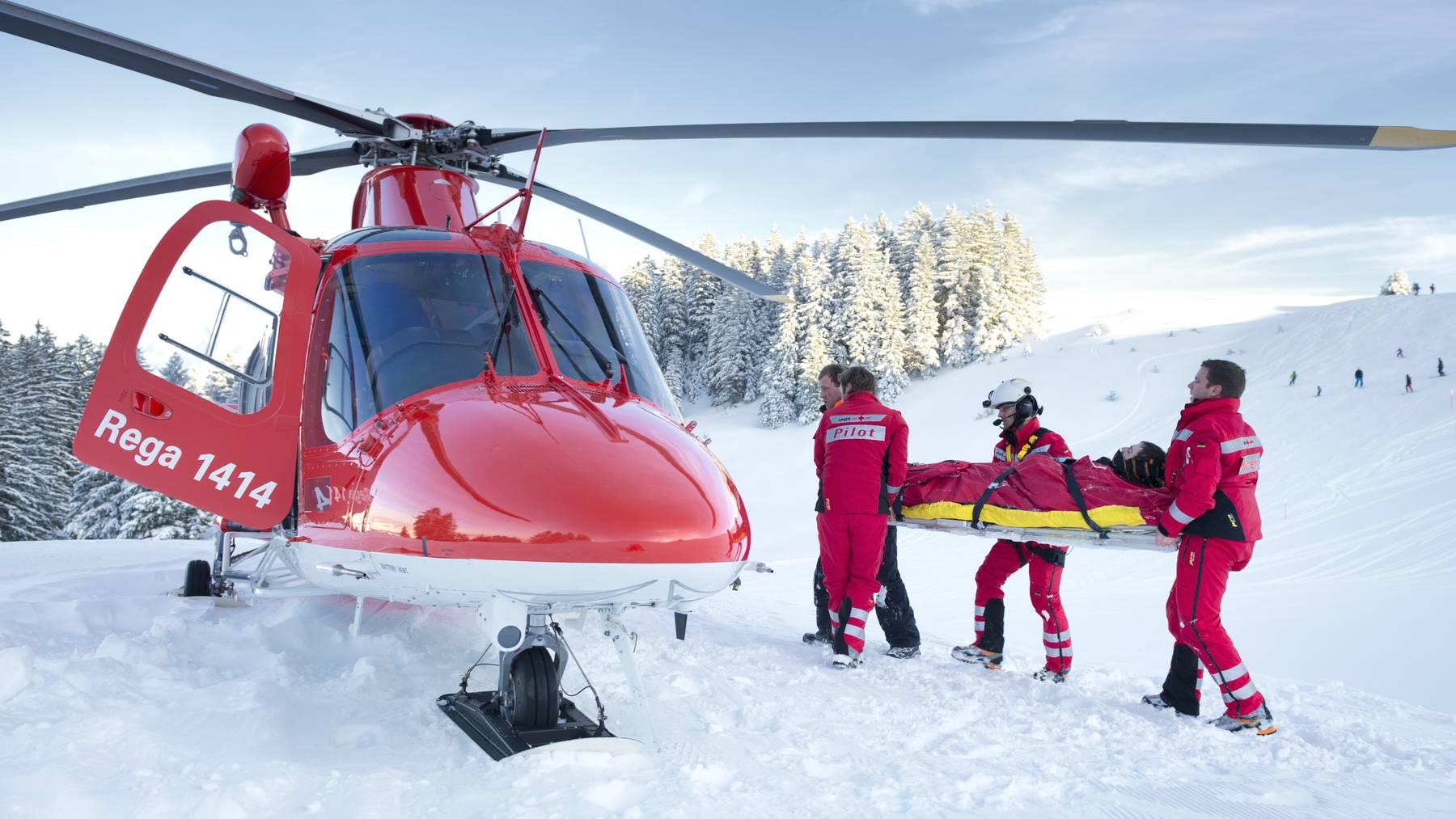 Rega im Dauereinsatz für Wintersportler