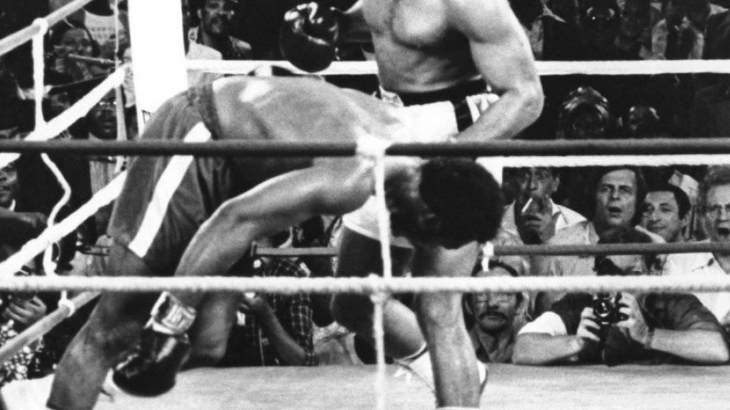 Muhammad Ali bezwang George Foreman 1974 beim «Rumble in the Jungle» in Kinshasa