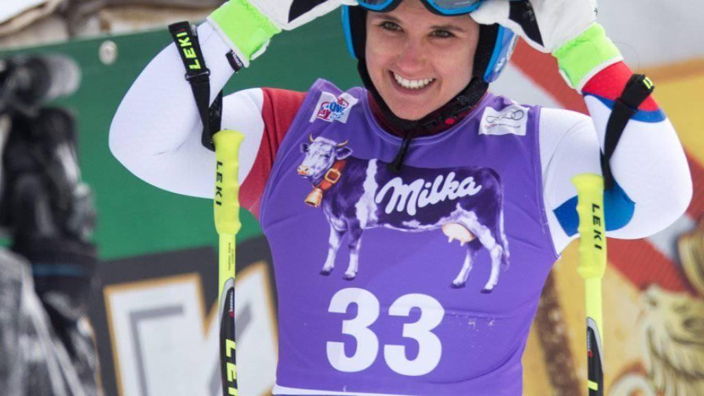 Joana Hählen gewinnt die erste von zwei Europacup-Abfahrten in Zauchensee