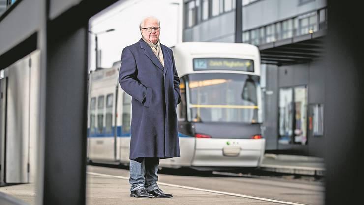 «Die Ideen sind mehr als verwirklicht worden»: Heinz Jauch, alt Stadtpräsident von Dübendorf und Mitinitiator der Glattalbahn. Christian Merz