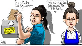 Frauenstreik: Karikatur