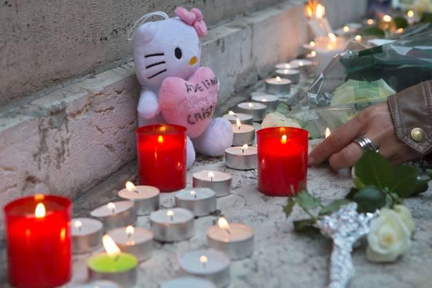 Kerzen für die ermordete 34-Jährige