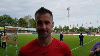Siegtorschütze Maierhofer nach der Barrage-Qualifikation
