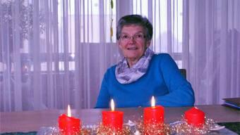 Vreni Meier ist derzeit noch mit den letzten Vorbereitungen für die Fricker Weihnachtsfeier für Alleinstehende beschäftigt. nbo/Archiv