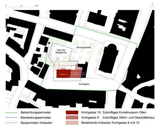 Der Perimeterplan für das neue Kunstmuseum