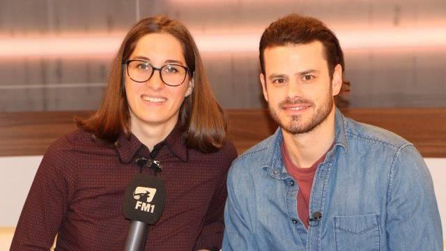 FM1-Redaktorin Anja Müggler mit Tranquillo Barnetta.