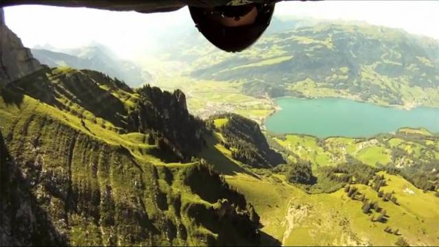 Flug mit 200 km/h: Das Video «Grinding The Crack» hat 15 Millionen Clicks auf Youtube. Foto: AZ
