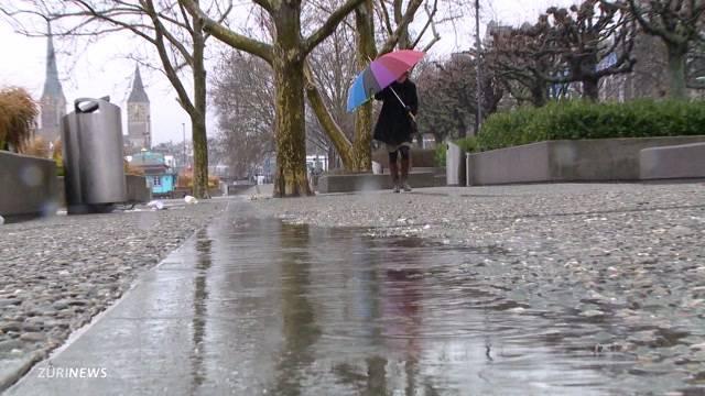 Regen ertränkt Winter