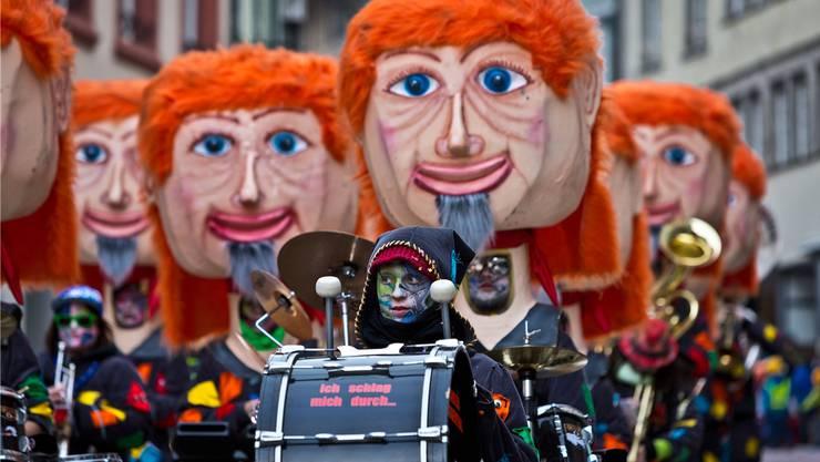 Als die «Räbefoniker» aus Untersiggenthal noch genügend Mitglieder zählten: Im Bild der Auftritt am Brugger Fasnachtsumzug 2013.