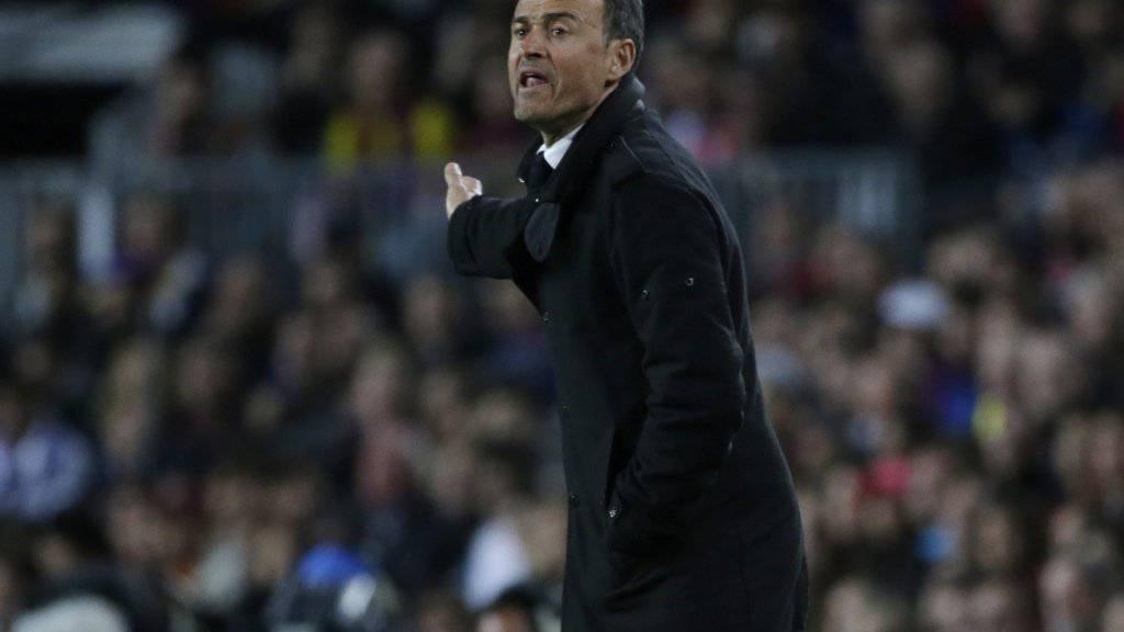 Barcelonas Trainer Luis Enrique will sein Team gegen Atletico Madrid im Vorwärtsgang sehen