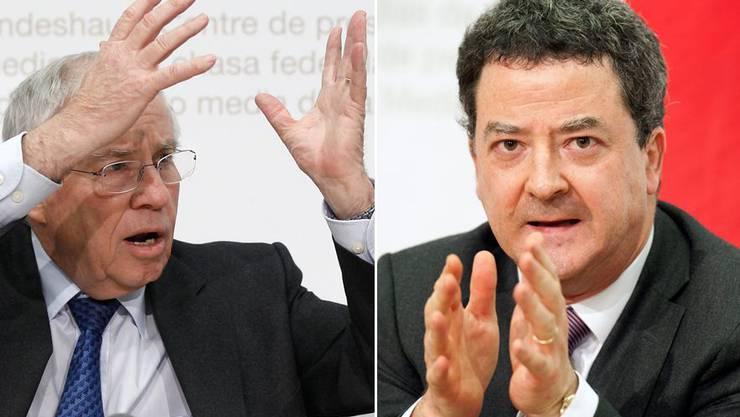 Christoph Blocher und Staatssekretär Yves Rossier