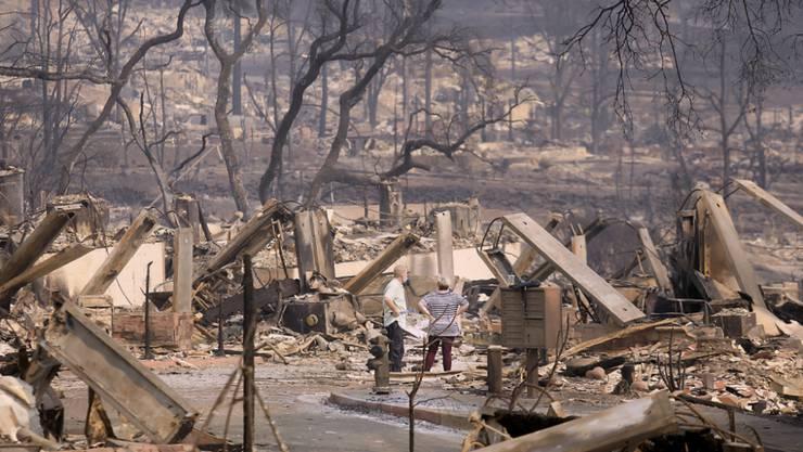 Die Buschbrände in Santa Rosa, Kalifornien, hinterlassen eine grosse Zerstörung.