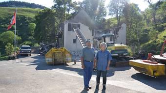 Paul und Käthi Strub blicken vor den Trümmern des Horn-Hofes wieder etwas hoffnungsvoller in die Zukunft.