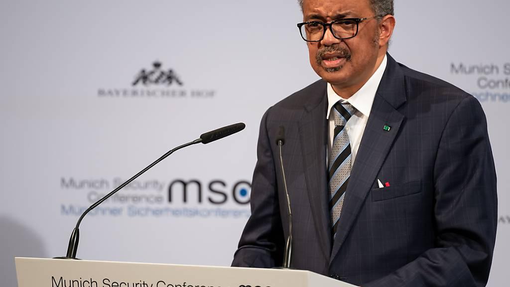 ARCHIV - Tedros Adhanom Ghebreyesus, Generaldirektor der Weltgesundheitsorganisation (WHO), spricht auf der Münchner Sicherheitskonferenz im letzten Jahr. Foto: Sven Hoppe/dpa