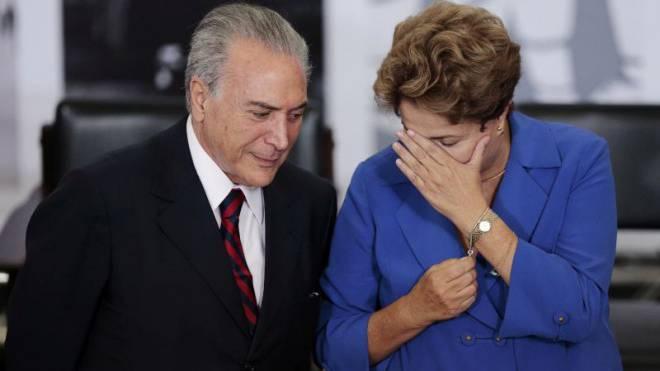 Michel Temer mit der suspendierten Präsidentin Dilma Rousseff. Foto: Reuters