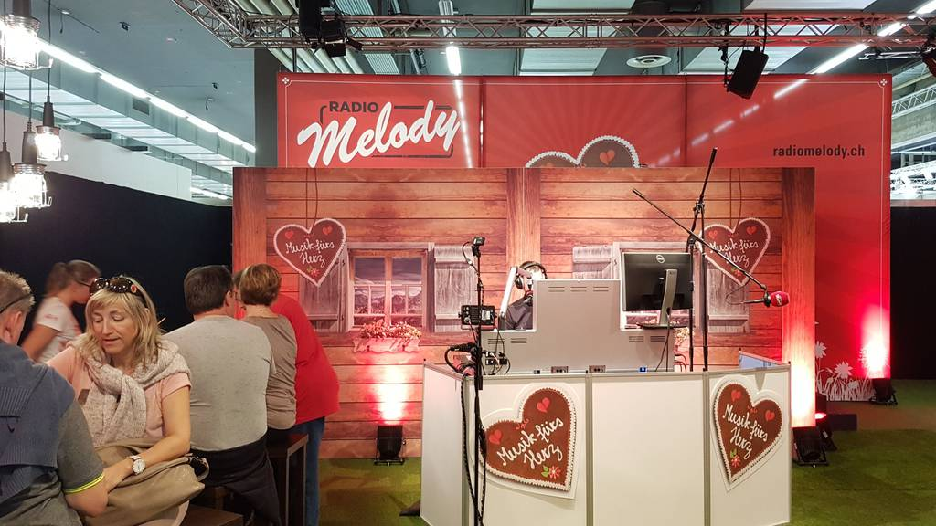 Aktion am Radio Melody Stand