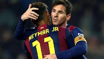 Sowohl Messi wie auch Neymar trafen gegen Atletico
