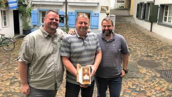 Mischen gerne Fleisch und Whisky: Marcel Rohner, André von Ah und Roberto Savoia (von links).