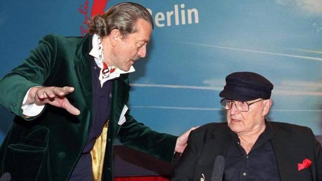Dieter Meier mit Lightmaker-Star Rod Steiger (Archiv)
