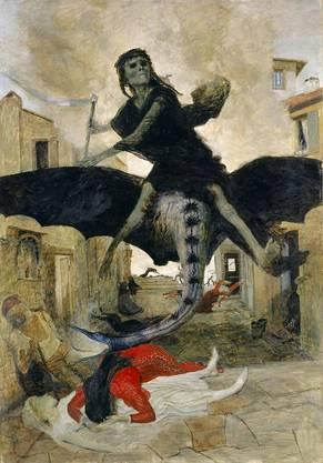 «Die Pest»: Gemälde von Arnold Böcklin, 1898.