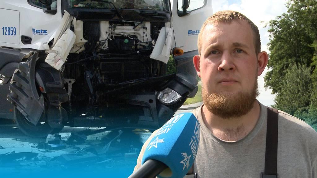 Chauffeur missachtet Vortritt: Eine Person bei Lastwagen-Kollision verletzt