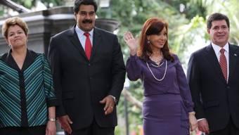Die Staatschefs von Brasilien, Venezuela, Argentinien und Paraguay