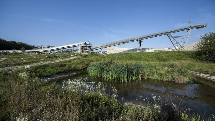 Im Abbaugebiet in Gunzgen und Boningen findet man verschiedene Gewässer…