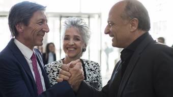 Der Zürcher FDP-Stadt- und Nationalrat gratuliert dem Zürcher Regierungsrat Thomas Heiniger und der Neu-Regierungsrätin Carmen Walker-Späh.