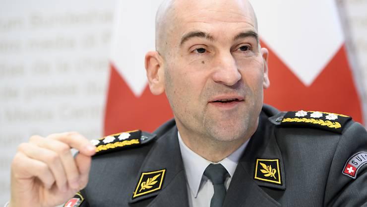 Armeechef Thomas Süssli hat den ersten Einsatz der Schweizer Armee im Zusammenhang mit der Coronavirus-Pandemie bekannt gegeben. (Archivbild)