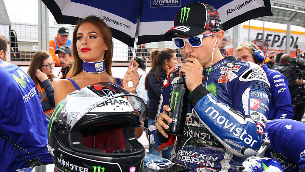Der damalige Yamaha-Werkfahrer Jorge Lorenzo im September 2016 vor dem Rennen in Silverstone