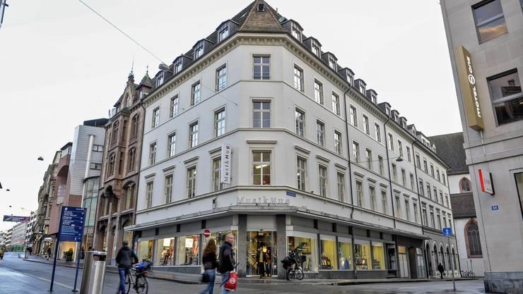 Das Traditionshaus Musik Hug in der Freien Strasse.