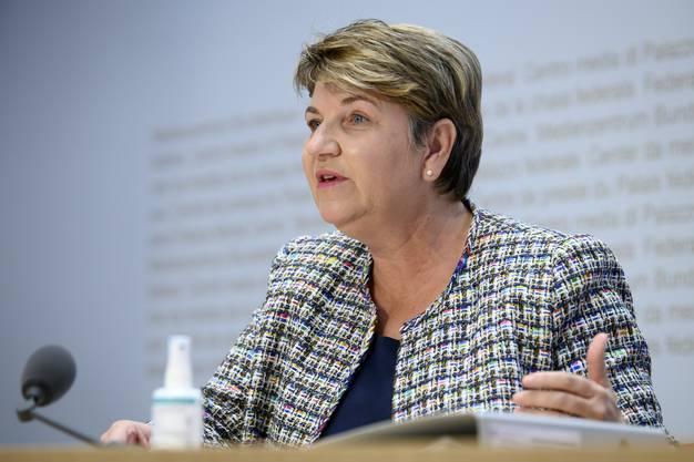Bundesrätin Viola Amherd gibt den Anliegen der Schweizer Sportlerinnen Gewicht.