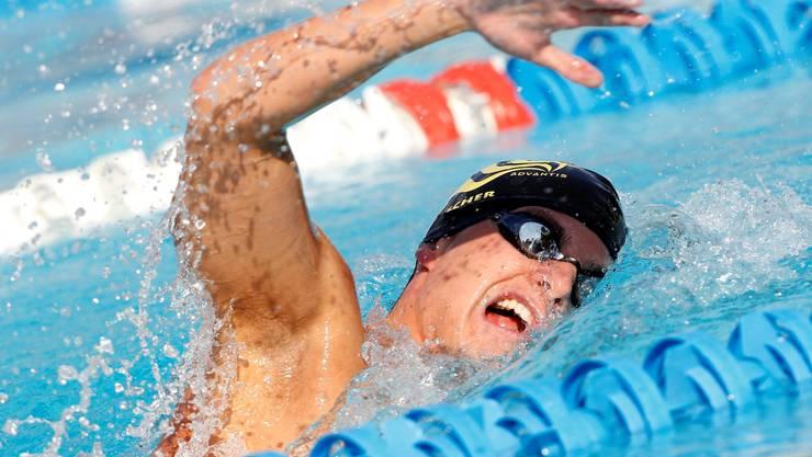 Joël Escher vom Schwimmklub Aarefisch auf dem Weg zu seinem Schweizer-Meister-Titel über 1500 Meter.