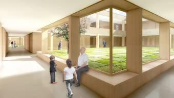 Eine Visualisierung des geplanten Alterszentrum Am Bach in Birmensdorf.