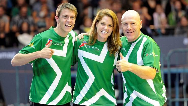 Team grün mit Matthias Kyburz, Florence Schelling und Didier Cuche.