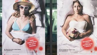 Noch 2013 hatte der Bund die Bevölkerung mit einer Plakatkampagne zur Impfung gegen Masern aufgefordert. (Archivbild)