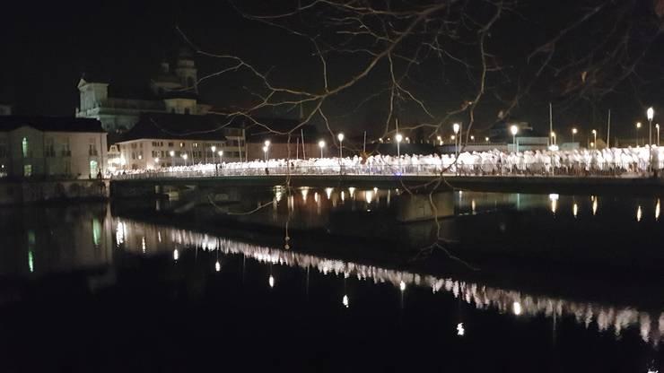 Chesslete 2019 über die Kreuzackerbrücke