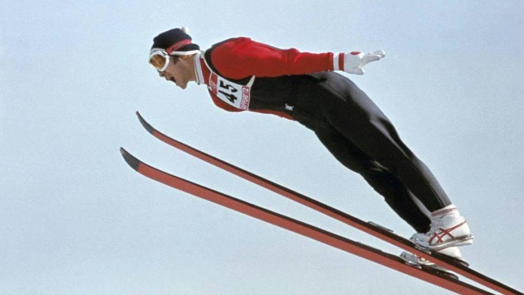 Yukio Kasaya bei seinem Olympiasieg 1972 in Sapporo