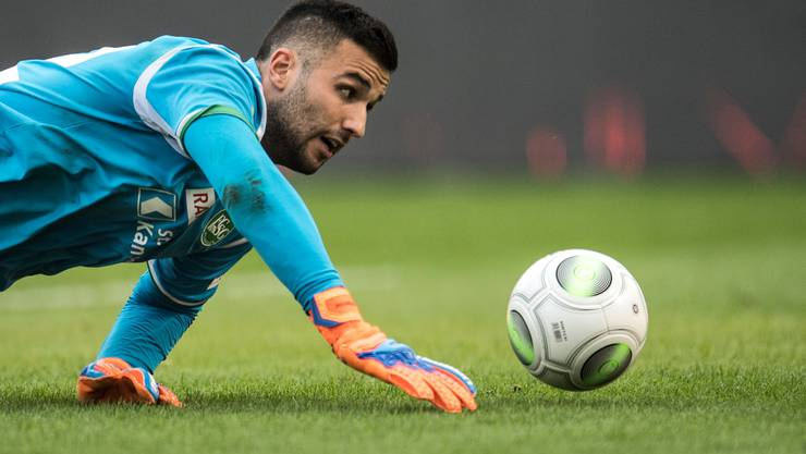 St.Gallen-Goalie Dejan Stojanovic.