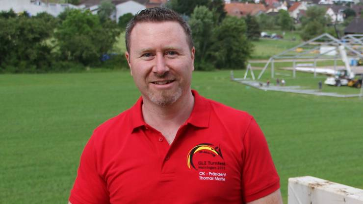 Thomas Mattle, OK-Präsident des Regionalturnfestes im Weindorf.