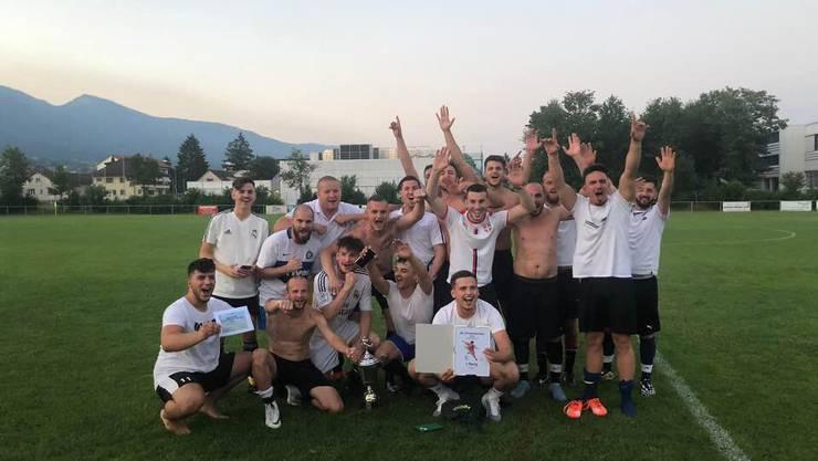 """Freude über den Turniersieg bei """"FC Schärer AG"""""""