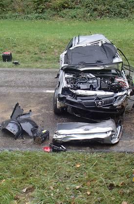 Sein Auto überschlug sich mehrfach.