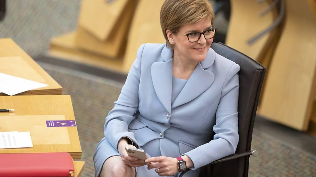 Nicola Sturgeon, Erste Ministerin von Schottland und Vorsitzende der Schottischen Nationalpartei (SNP). Foto: Jane Barlow/PA Wire/dpa